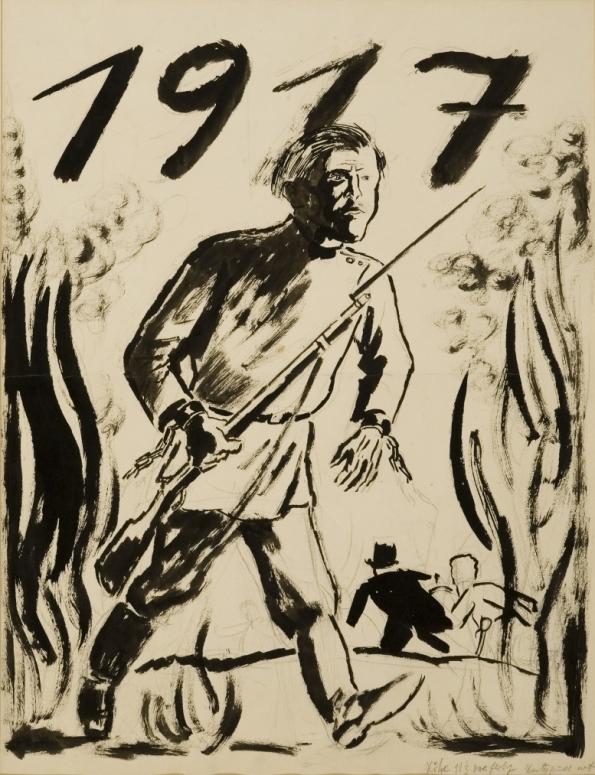 George-Grosz1917-china-e-matita-su-carta-cm.-65x53-595x775